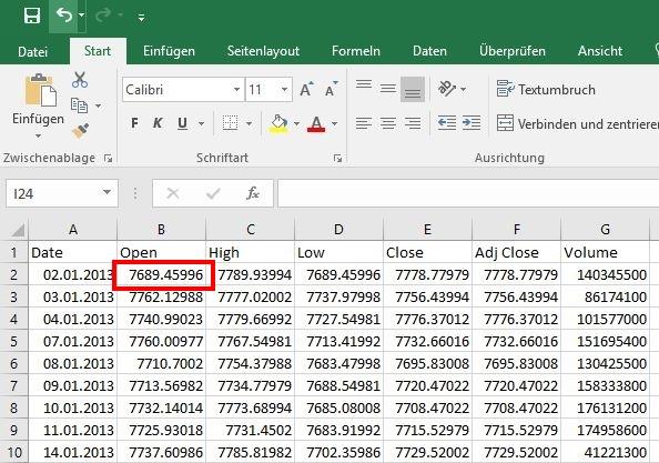 Excel Dezimaltrennzeichen: Punkt statt Komma